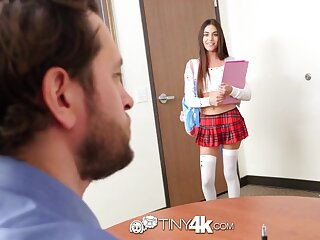 Cute college babe has a crush on her professor and wants his fixed cock