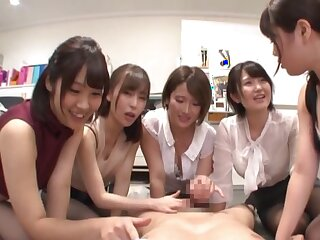 Be dressed Japanese office squirearchy close by fine scenes of POV cock sharing