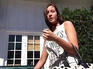 Homemade POV video be advisable for cute brunette Molly Manson giving head