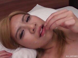 Kinky Asian chick Mochizuki Helene Angelica beside a buttplug, having sex