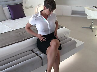 Sexy secretary wet clothes fantasy