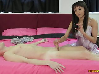 Aroused amateur gives the neighbor a good flog to the fullest extent a finally posing clothed