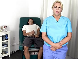 Sensuous, blondie nurse is using every misfortune to get screwed, pacific even if she is at work